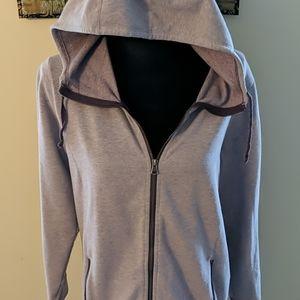 Purple fleece hoodie